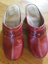 Dansko Red Leather Slip On Mules 39