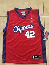 NWT Reebok NBA Clippers Brand #42 Red/Blue Mesh Jersey Youth M(10-12)
