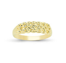 9CT GOLD SOLID KEEPER 3 ROW SHOT KNOT RING BAND GIFT BOX