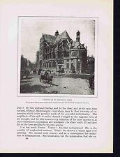 Church of St. Eustache - Paris - Masses for St. Cecilia's Day- 1925 Music Print