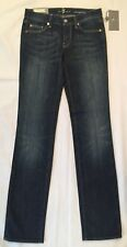 BRAND NEW LADIES  7 FOR ALL MANKIND CLASSIC STRAIGHT LEG DENIM JEANS SIZE: 26