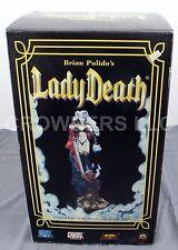 "Brian Pulido Lady Death Statue 18"" w/ Nightmare Sword on Skull-laced Lava Base"