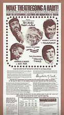 """Jerry Lewis """"HELLZAPOPPIN"""" Zero Mostel """"FIDDLER ON THE ROOF"""" 1976 Boston Flyer"""