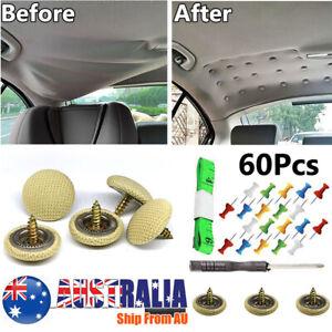 60 Pcs Sagging Headliner Repair  Buckle Pins Rivet car Roof Liner Ceiling Repair