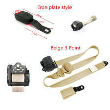 Universal 3Point Adjustable Car Seat Belt Lap & Diagonal Belt Iron Plate Style
