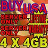 16GB KIT 4X4GB DELL FBDIMM PowerEdge 2950 1950 2950 1900 1955 R900 RAM MEMORY