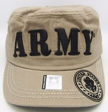United States U.S. ARMY Cadet Cap Hat USA Caps US Military Licensed Beige NWT