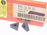 NEW SURPLUS  3PCS.  SANDVIK  TNMG 333  GRADE: 4025  CARBIDE  INSERTS