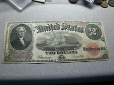 Series 1917 $2 Dollar Red Seal Note - Large Horse Blanket Bill