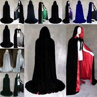 Mode Halloween Kostüm Umhang Samt Mantel Mit Kapuze Faszinierend Zauberer Umhang