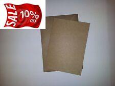 50 x A6 riciclato 280gsm KRAFT cartolina stile Carta A Costine Con Buste KRAFT