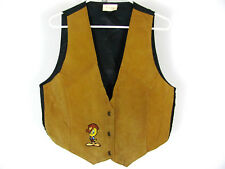 Vtg '90s M/L Tweety Bird Embroidered Western Style Leather Looney Tunes Vest