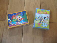 LOT DE 2 MINI PUZZLE GARFIELD ET DIDDL 54 PIECES DEPESCHE ET MASTER LINE