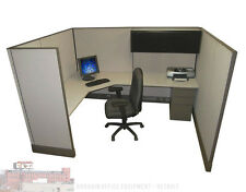 6x8 X 67 Tall Herman Miller Work Station Office Cubicles