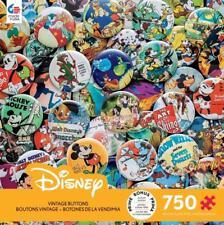 CEACO DISNEY JIGSAW PUZZLE VINTAGE BUTTONS 750 PCS #2912-5