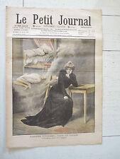 PETIT JOURNAL 1908 Mme STEINHEIL EN PRISON / BALLON AEROSTAT ALLEMAND COSAQUES