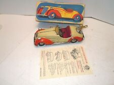 1950 US Zone Germany Distler BMW D-3200 Convertible 50s Tin Wind Up Car in BOX.
