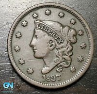 1837 Coronet Head Large Cent   --  MAKE US AN OFFER!  #B6321