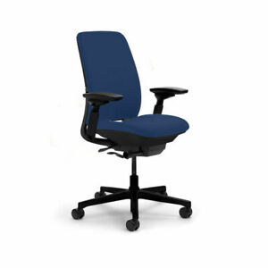 Steelcase (Leap V2) Amia Task Chair - Fully Adjustable - Blue Fabric