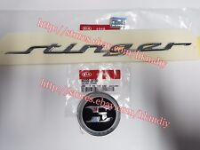 Genuine OEM Front Hood Rear Trunk Emblem Badge 2PC For 2018 2019+ Kia Stinger