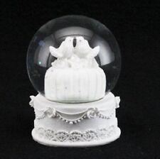 Gisela Graham White Wedding Cake with Doves Snow dome Snowglobe Ornament 34755