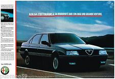 Publicité Advertising 1990 (2 pages) Alfa Romeo Alfa 164