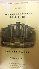 Js Bach: Cantata No. 198: volumen partitura LV:
