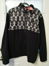 The North Face Men's 300 Tundra Full Zip Fleece Jacket TNF Black Sz XXL NWT