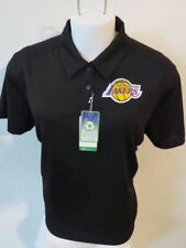 New Sz M-3X Black Solid NBA Womens Performance Polyester #76K Polo Shirt