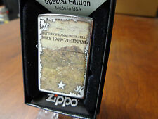 BATTLE OF HAMBURGER HILL MAY 1969 VIETNAM WAR ZIPPO LIGHTER MINT IN BOX