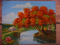 Alvin 07 Tropical Highwaymen Style Art Painting Colorful Tree Kitsch Kitschy