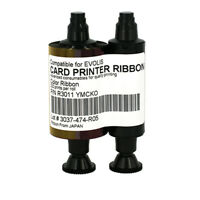 YMCKO Color Ribbon For Evolis R3011 R3011C Printer 200 Full Color Print