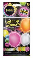 illooms Mixed Colors LED Light Up Balloons 15 Total Party Balloons Birthday