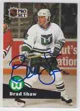 Autographed 91/92 Pro Set Brad Shaw - Whalers