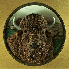 The Bison Plate 3D Sculptural Faces of the Wild #7 1997 Bradford Exch Buffalo