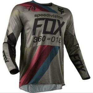 Men's FOX Downhill Jersey Motocross OFF Road DH MTB ATV MX  Cycling Bike Shirt