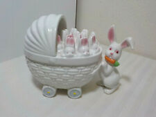 Fitz & Floyd Mama Rabbit With Buggy Full Of Babies Bunnies Candy Trinket Box
