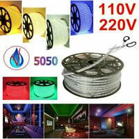 IP67 Waterproof SMD 5050 LED Strip Lights 110V 220V Flexible Tape Rope Light