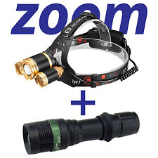 20000lm CREE XM-L 3xT6 LED Headlight Headlamp 18650 Torch Flashlight/Charger USA