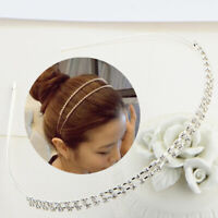 Women Rhinestone Headband Gold Silver Hairband Crystal Hair Hoops Hair Accessory