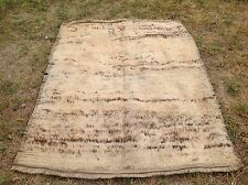"Turkish antique MORACCON tulu shaggy vintage oushak  pastel carpet rug 5'4""x4'2"""