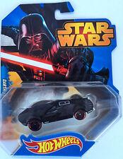 Star Wars Hotwheels -- Darth Vader Sports Car -- Die Cast, 2014