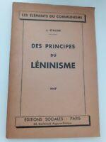 Delle Libro Grundlagen Del Leninisme J.Stalin 1947 Edizioni Sociali A Parigi
