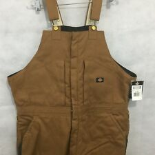 Dickies Premium Insulated Bib Overall Sz 2X Reg Brown Outdoors Work NEW