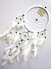 Beautiful Nylon White 16cm Web Coconut Bead Dream Catcher 62cm Total Length