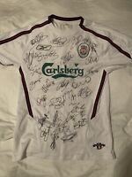 FC Liverpool - Original signiertes Trikot 2003 / 2004 - Kewell, Gerrard, Owen