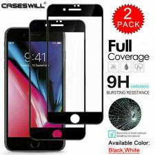 2× Full Glue Glas Für iPhone 7 iPhone 8 Plus Panzerfolie Schutzfolie Hartglas 9H