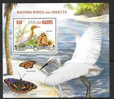 MALDIVE ISLANDS 2014 WADING BIRDS & INSECTS M/S MNH