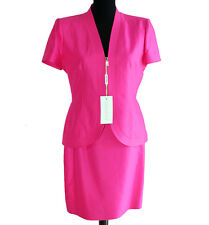 Tailleur Genny 42 - 46 gonna giacca donna fuxia cotone completo
