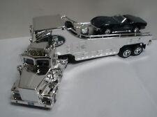 TAYLOR TRUCK 2001 ALL CHROME Car Carrier 1968 CORVETTE STINGRAY 1 OF 500 MIB